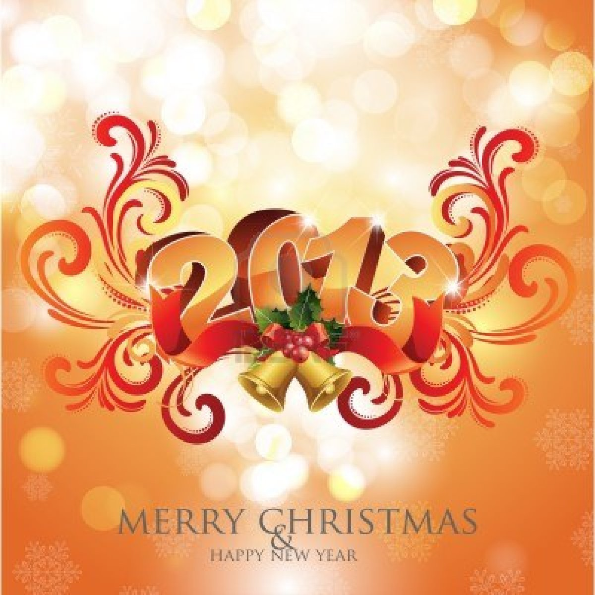 the seventh day of christmas and new years eve merry christmas and happy new year 2012